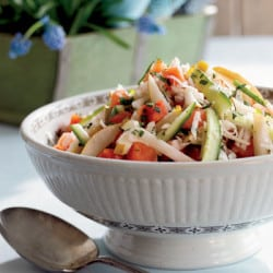 melon slaw, summer salads